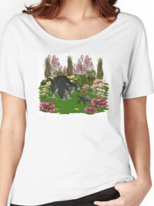 Trouble in the garden .. July Cat Women's Relaxed Fit T-Shirt