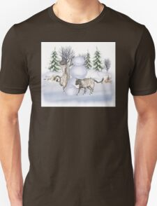Fun in The Snow .. January cats Unisex T-Shirt