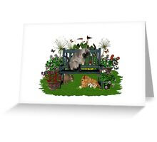 August Cats Greeting Card