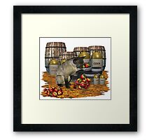 November Cat Framed Print
