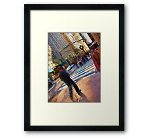 Colorful NYC Street Scene Framed Print
