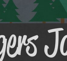 Tigers Jaw Tree Logo Sticker