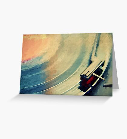 Spinning Vinyl Record Painting Greeting Card