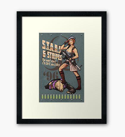 Valentine Bombshell Framed Print