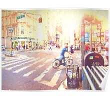 Colorful NYC Intersection Poster