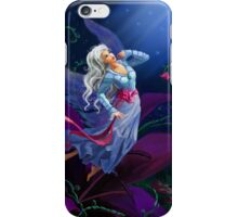 The night fairy flying to the moon iPhone Case/Skin