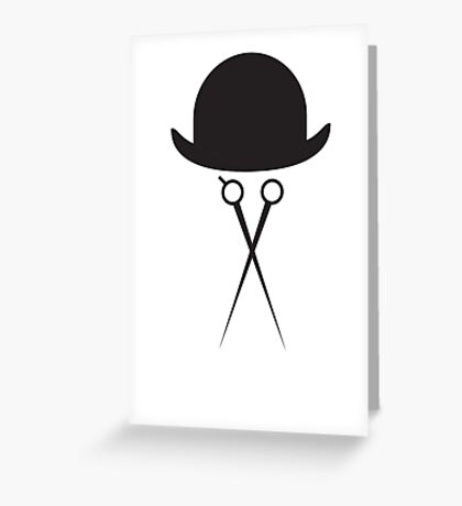 Scissors and Bowler Hat Greeting Card
