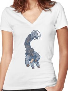 Astro Brachiosaurus Women's Fitted V-Neck T-Shirt