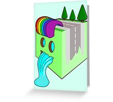 The Earth Cube Greeting Card