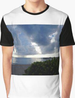 Storm Over Atlantic Graphic T-Shirt
