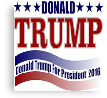 2016 election vote for Donald Trump  Canvas Print