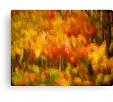 Colorful Autumn Leaves Abstract Painting Canvas Print