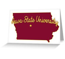Cyclones State Cursive Greeting Card