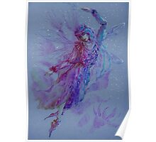 Beautiful flying fairy  Poster