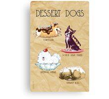 Dessert Dogs Canvas Print