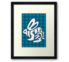 it's about bunnies Framed Print