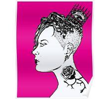 Rose Punk Queen Poster
