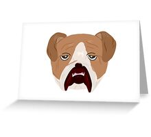 Wrinkley Old Bulldog Greeting Card