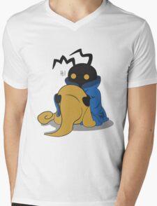 Black Heartless Mens V-Neck T-Shirt