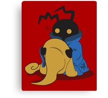Black Heartless Canvas Print