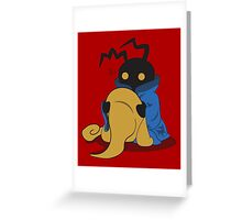 Black Heartless Greeting Card