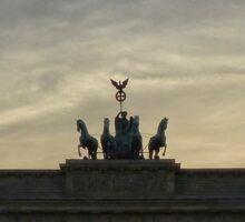 Brandenburg Gate sunset, Berlin  Sticker