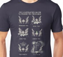 An illustrated Guide to Proper Tea Technique Unisex T-Shirt