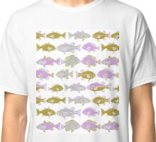 fish, fishing, children, kids, sport, nature, wildlife, gender neutral, mint, navy, pink, pastel, hand drawn, drawing, illustration, nursery, baby, newborn,  Classic T-Shirt