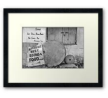 Broken language Framed Print