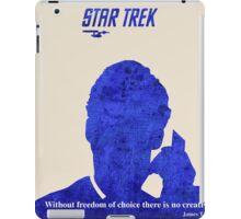Star Trek quote iPad Case/Skin
