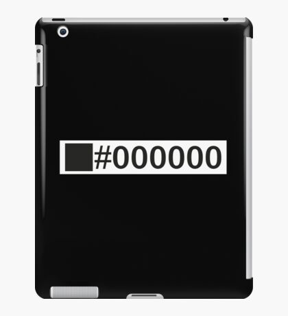 Colour Black #000000 iPad Case/Skin