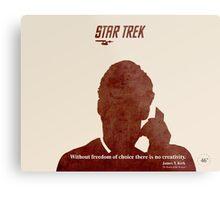 Red Star Trek Metal Print