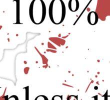 Blood. Sticker