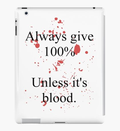 Blood. iPad Case/Skin