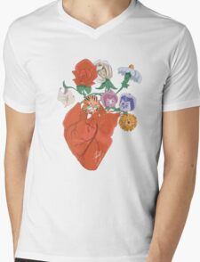 Spring Love Mens V-Neck T-Shirt