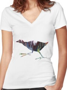 Gallinule  Women's Fitted V-Neck T-Shirt