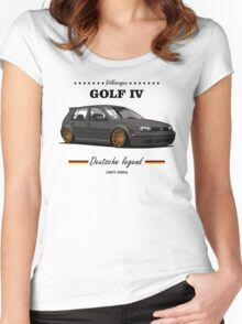 VW Golf MKIV (black) Women's Fitted Scoop T-Shirt