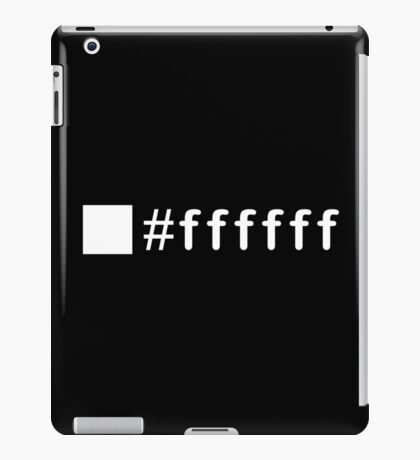 Colour White #ffffff iPad Case/Skin