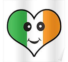 Cute Irish Heart Smiley Face Poster