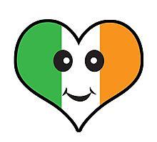 Cute Irish Heart Smiley Face Photographic Print