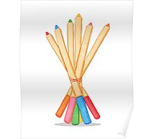 Colored Pencil Bouquet  Poster