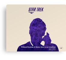 Purple Kirk, Star Trek Canvas Print