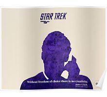 Purple Kirk, Star Trek Poster