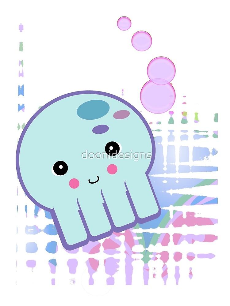 Pastel Kawaii Octopus by doonidesigns