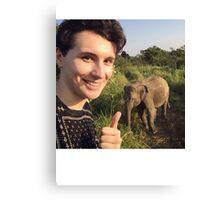 Safari Dan Elephant Canvas Print