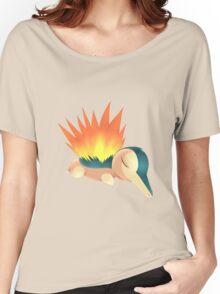 Sleepy Cyndaquil Women's Relaxed Fit T-Shirt