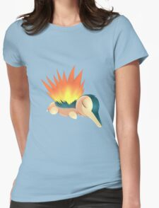 Sleepy Cyndaquil Womens Fitted T-Shirt