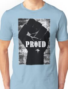 Black and Proud Power Fist Unisex T-Shirt