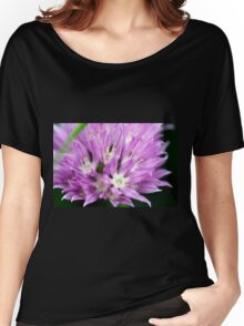 Macro Chive Blossom 4 Women's Relaxed Fit T-Shirt