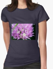 Macro Chive Blossom 4 Womens Fitted T-Shirt